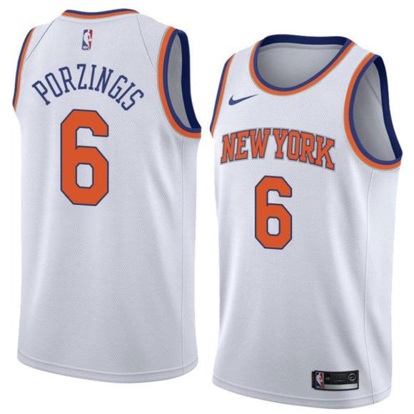 the best attitude 64f00 e99ce Kristap Porzingis #6 New York Knicks White Jersey NWT